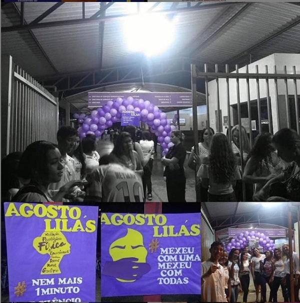 Agosto Lilás - Campanha contra a violência doméstica